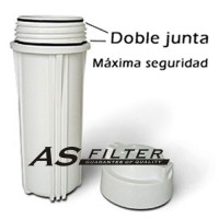"""FILTER HOUSING 10"""" WHITE FOR RO ASFILTER"""