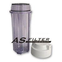 """FILTER HOUSING 10"""" CLEAR FOR RO ASFILTER"""