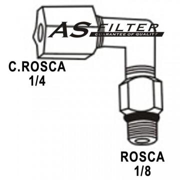 CODO ANTIRRETORNO INX. C.ROSCA1/4 X ROSCA1/8 (2 PIEZAS)