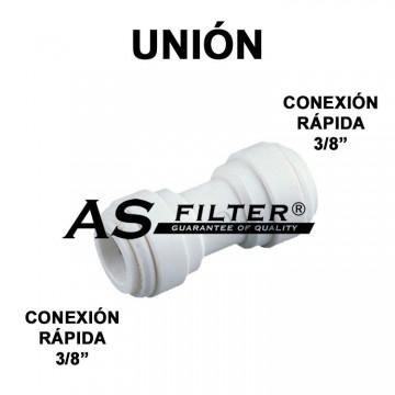 """UNION C.RAPIDA 3/8"""" X C.RAPIDA 3/8"""""""