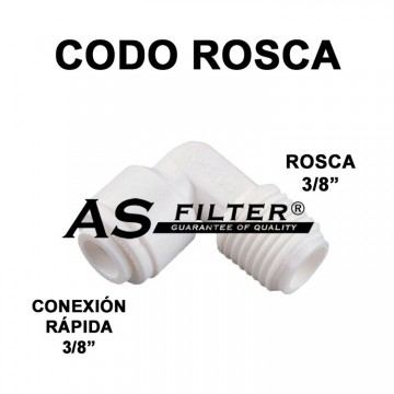"""CODO C.RAPIDA 3/8"""" X ROSCA 3/8"""""""