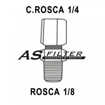 RECTO C.ROSCA1/4 X ROSCA1/8