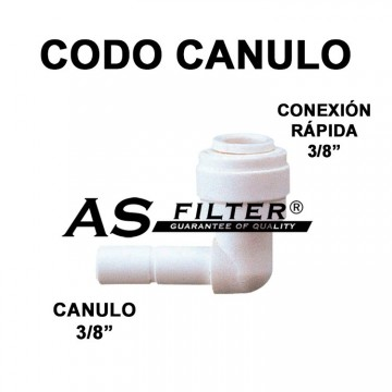 "CODO C.RAPIDA 3/8"" X CANULO 3/8"""