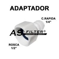 """ADAPTADOR C.RAPIDA 1/4"""" X ROSCA 1/2 (HEMBRA)"""