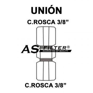 """UNION C.ROSCA 38"""" X C.ROSCA 3/8"""""""