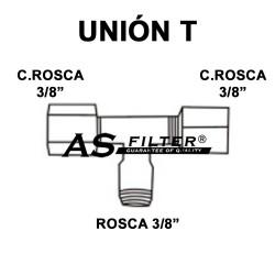 """TE ABIERTA C.ROS 3/8"""" X C.ROS 3/8"""" X ROS 3/8"""""""