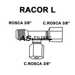 """L C.ROSCA 3/8"""" X C.ROSCA 3/8"""" X ROSCA 3/8"""""""
