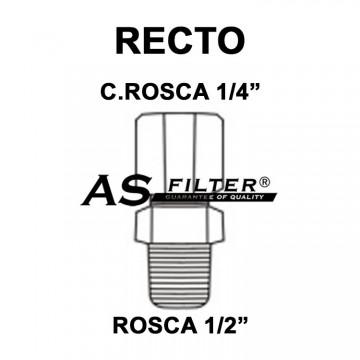 "RECTO C.ROSCA 1/4"" X ROSCA 1/2"""