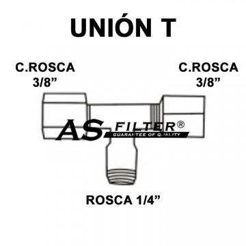 """TE ABIERTA C.ROS 3/8"""" X C.ROS 3/8"""" X ROS 1/4"""""""