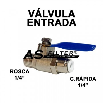VALVULA ENTRADA C.RAPIDA 1/4