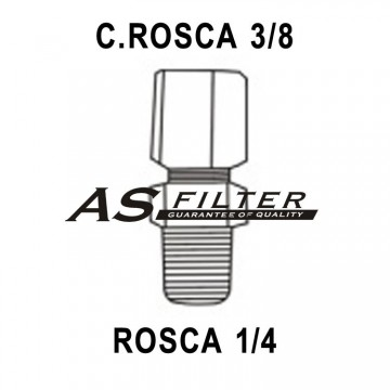 RECTO C.ROSCA3/8 X ROSCA1/4