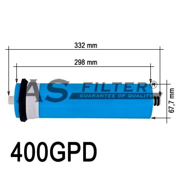 Comprar membrana de osmosis inversa 3013 em 400 gpd for Membrana osmosis inversa