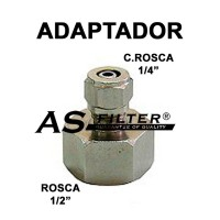 "ADAPTADOR METALICO C.RAPIDA 1/4"" X ROSCA 1/2"" (HEMBRA)"