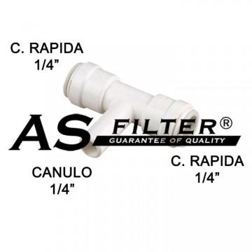 """TE ABI C.RAPIDA 1/4"""" x CANULO 1/4"""" x C.RAPIDA 1/4"""""""