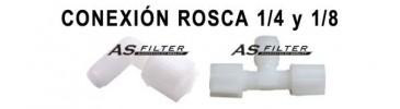 Conex. Rosca 1/4 y 1/8
